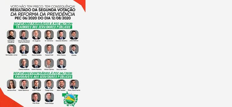 IMaioria dos deputados estaduais vota contra servidores de MT e aprovam reforma da previdência