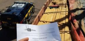 Fiscais do Indea/MT em parceria com PRF apreendem carga de madeira ilegal em Barra do Garças