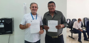 Sintap/MT presta homenagem aos servidores Benjamin da Silva Cruz e Pedro Arnaldo Paschiotto que se aposentaram hoje